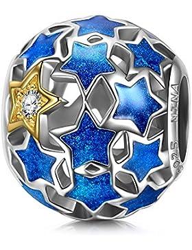 NinaQueen - Sternennacht - Damen-Charm 925 Sterling Silber