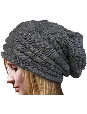 Rcool Crochet las mujeres del invierno gorro de lana Tejer Beanie casquillos calientes 6 colores