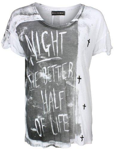 Religion Oversize-Shirt Half of Life Tee Weiß