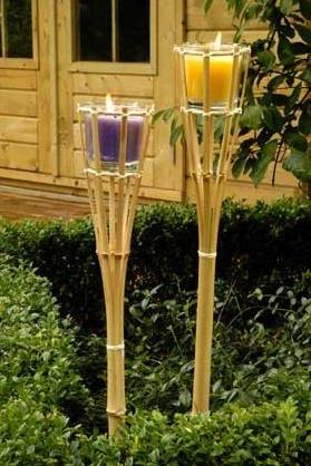 Lifetime 95120 Torche de Jardin à Citronelle Bois Multicolore 9 x 9 x 76 cm