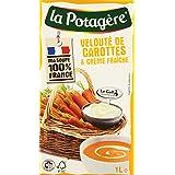 LA POTAGERE : Velouté de carottes et crème fraîche