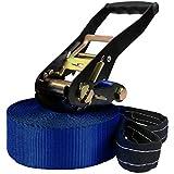 Slackline 15 m Freedom von BB Sport belastbar bis 2 t, Farbe:blau
