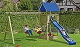 Kinderspielturm Noah - 410 x 190 x 296cm, Kreuzholz, druckimprägniert