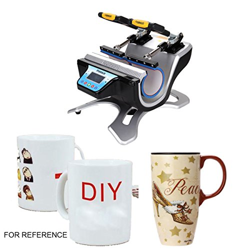 Iglobalbuy Doppelte Tasse Sublimation Hitze Presse Maschine Bundle Transfer Drucker