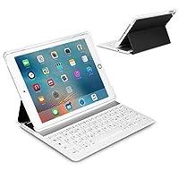 Inateck Ultra-dünne Deutsche Bluetooth Tastatur Keyboard Case Cover für Apple iPad Air 2/iPad pro 9.7 Smart cover mit automatischer Wake/Sleep Funktion und Multi-Angle Ständer - Schwarz&weiß