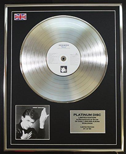 DAVID BOWIE/Limitierte Edition Platin Schallplatte/HEROES -