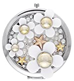 La Vogue Perfume Daisy Pattern Women Portable Makeup Compact Mirror Purse Handbag Mirror(7*7cm)
