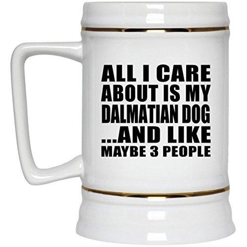 My Dalmatian Dog - Beer Stein Bierkrug Keramik Bierhumpen Bar Becher Kneipenkrug - Geschenk zum Geburtstag Jahrestag Muttertag Vatertag Ostern ()