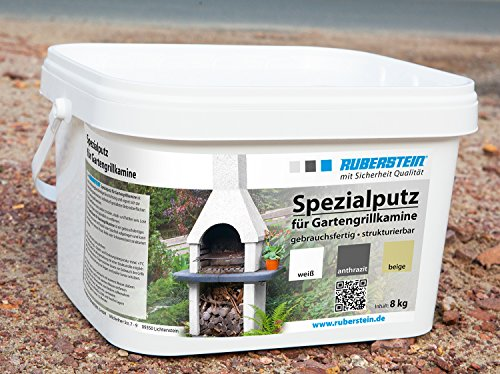 Ruberstein®Spezialputz für Gartengrillkamine, 8kg, weiß, direkt vom - Farbe Grill