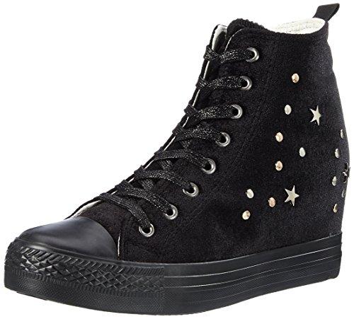 Fiorucci FEAE019, Sneaker a Collo Alto Donna, Nero, 38 EU