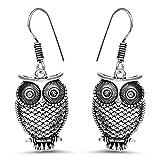 Johareez Plain Oxidised Owl Shape Filigr...