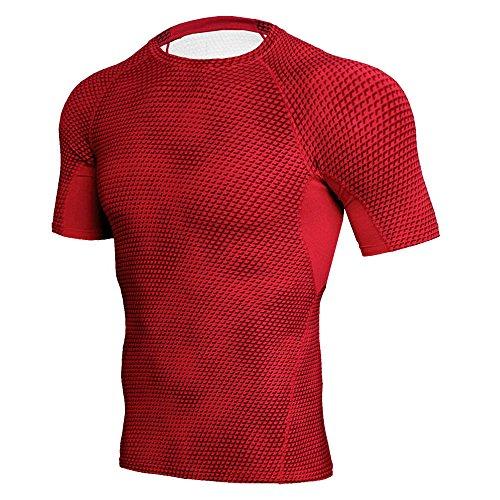 Dragon868 Herren Fitness Sport Laufen Yoga Athletisch elastisches T-Shirt