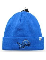 Detroit Lions sur champ bleu pliable Bonnet tricot bonnet NFL