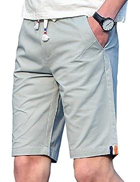 Moollyfox Bermudas hombre Pantalón corto Pantalon cortos con cordón para el verano