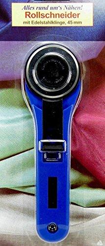 Preisvergleich Produktbild AZ 85045: Rollschneider mit Edelstahl Klinge ø 45 mm (Rotary Cutter Messer f. d. Schneiderin)