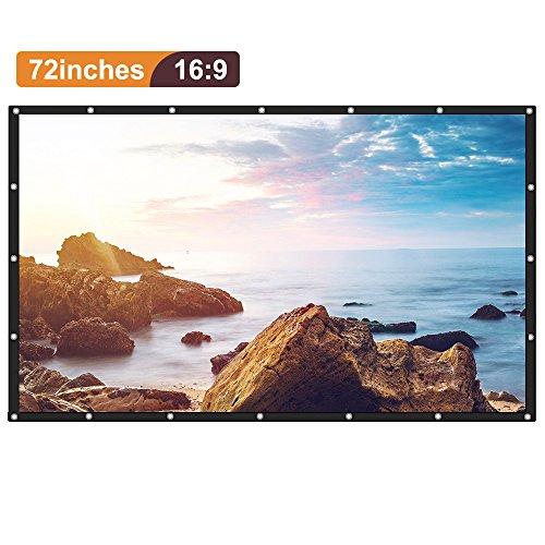 [Upgrade] Joyhero 72 Zoll Outdoor Projektionswand PVC Material, 16: 9 Zusammenklappbar Beamer Leinwand für Beamer Projektor HDTV / Sport / Filme / Präsentatione