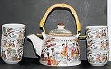 Traditionelle Chinesische Tee-Set Musiker Design; 6cups; Geschenkbox