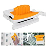 Limpiador Magnético de Ventanas de Doble Acristalamiento Cuadrado Limpiador de Vidrio de Dos Lados con 2 limpiador de algodón de Limpieza Adicional Equipo de Lavado Limpiador de Hogar (Reforzado)