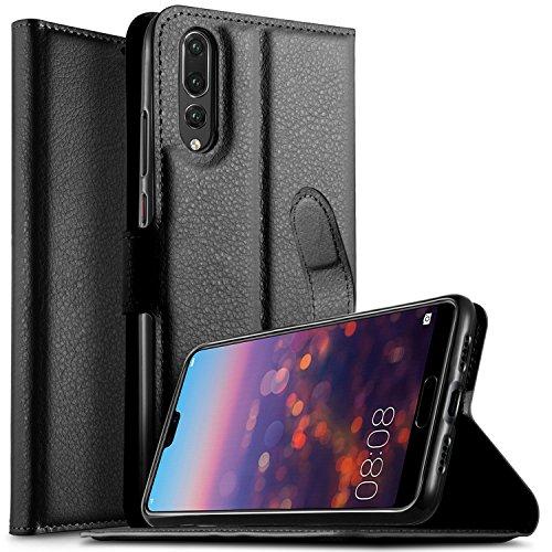 Coque Huawei P20 Plus, KuGi PU Cuir Flip Housse Cover Wallet Case[Kickstand] Portefeuille Supporter avec Carte de Crédit Fentes pour Huawei P20 Plus