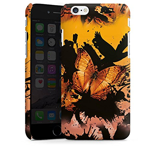 Apple iPhone X Silikon Hülle Case Schutzhülle Schmetterling Grunge Kunst Premium Case matt
