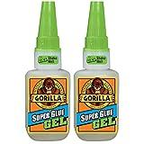 2 x Gorilla 4044400 15g Superglue Gel - Clear