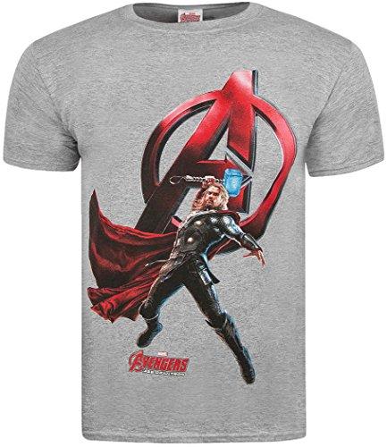 marvel-herren-t-shirt-thor-attack-grey