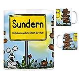 Sundern (Sauerland) - Einfach die geilste Stadt der Welt Kaffeebecher Tasse Kaffeetasse Becher Mug Teetasse Büro Stadt-Tasse Städte-Kaffeetasse Lokalpatriotismus Spruch kw Hachen Amecke Balve Menden