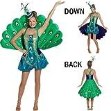 Pfau-Kostüm für Damen -