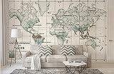 Fotomural 3D Papel Pintado no tejido wallpaper Volver A El Mundo Antiguo El Viejo Americano Mapamundi Tv Pared Del Fondo Nórdico decoración de pared diseño Modernos murales