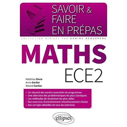 Savoir & Faire en Prépas Maths ECE2