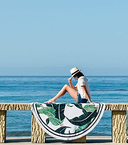 Taihang Grüne Blätter Europa und Amerika runden Badetuch Pad Urlaub Urlaub Schutz Schal Wrap Rock