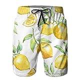 Photo de KLYDH Lemon Men's Quick Dry Swim Trunks Beach Shorts Pants Home Shorts par KLYDH