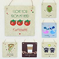 Novelty Fathers Day Gifts Funny Dad Gift Fun Wall Hanging Signs for Daddy Cute Romantic Birthday Present for Him or Her Lotta Love Plaques (14cm) LittleShopOfWishes