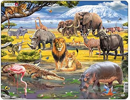 Larsen - Puzzle Encadré Animaux de la Savane 43 43 43 Pièces, FH30 | De Haute Sécurité  bbd2ea