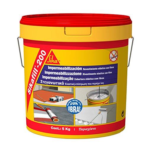 Sika M113846 - Impermeabilizante sikafill 200 fibras 5 kg blanco