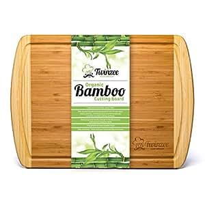 Tagliere in Bambù Biologico EXTRA LARGE con Scanalature - Il Miglior Tagliere da Cucina