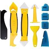 Lifreer - Juego de herramientas de calafateo de 9 piezas, sellador de silicona, removedor de lechada, herramienta sellador de