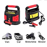 FullBerg Batterieladegerät 12/24V, Automatik Ladegerät KFZ (für Autobatterien von 40 bis 200Ah, Überlastungs-, Überhitzungs-,Verpolungs- und Kurzschlussschutz)
