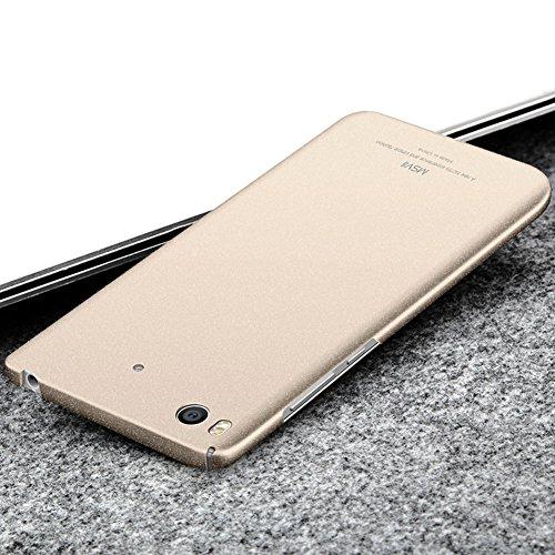Xiaomi Mi 5s Hülle, MSVII® PC Kunststoff Härte Hülle Schutzhülle Case Und Displayschutzfolie für Xiaomi Mi 5s - Grau JY30079 Gold