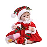 Decdeal NPK Reborn Baby Puppe Wie Echtes Baby mit Stoff Körper 16 inch Weihnachten Baby
