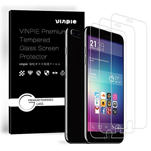 [3-Unidades] Protector de Pantalla iPhone 7 Plus / 6S Plus / 6 Plus, Vinpie Cristal Vidrio Templado Premium Para Apple iPhone 7 Plus / 6S Plus / 6 Plus [9H Dureza][Alta Definicion 0.3mm] [3D Touch Compatibles].