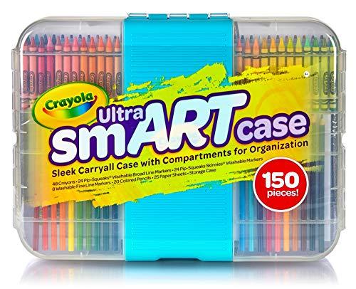 Crayola- binney & smith valigetta smart-case pezzi 150 scuola cartoleria, multicolore, 04-6810