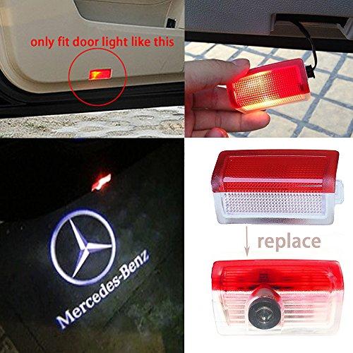 Preisvergleich Produktbild LIGHTUPRO 2 Pcs LED Projektor für Mercedes-Benz Logo Schritt Tür Höflichkeit Welcome Light Ghost Shadow
