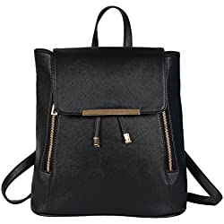 Glory fashion Stylish Girls School bag College Bag Casual Backpack Black