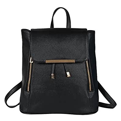 Glory Fashion Women's Backpack Handbag (L-1, Black)