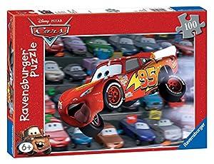 Ravensburger - Puzzles 100 Piezas XXL, diseño Cuidado, Auto! (10721 6)