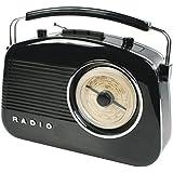 König HAV-TR710BL Portable Noir Radio portable - Radios portables (Portable, AM, FM, C, UM-2, Secteur, Batterie/Pile, Secteur)