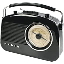 König HAV-TR710BL Portátil Negro - Radio (Portátil, AM, FM, C, UM-2, Corriente alterna, Batería, Corriente alterna)