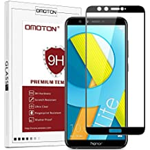 OMOTON Honor 9 Lite Pellicola Protettiva in Vetro Temperato - Bordi Arrotondati 2.5D - Durezza 9H - Anti-Graffi - Nessuna Bolla - 99% di Trasparenza e Sensibilità