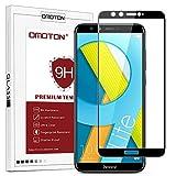 OMOTON Huawei Honor 9 Lite Verre Trempé [Couvir l'écran Complèt] [sans Bulles] Film Protection- Protecteur Ecran Noir (5.65 Pouces)